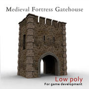 Medieval fortress gatehouse 3d model