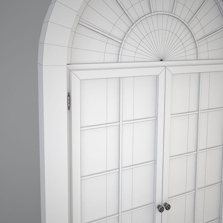프랑스 고전 창 royalty-free 3d model - Preview no. 6