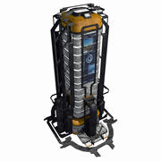 Sci Fi City Building Game Asset 09 - VR AR Sci-Fi Pro Model 3d model