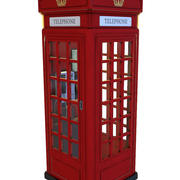 Phone Box UK (Old Red) 3d model