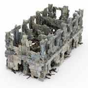Руины зданий 3d model