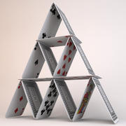 House of Playing Cards 3d model