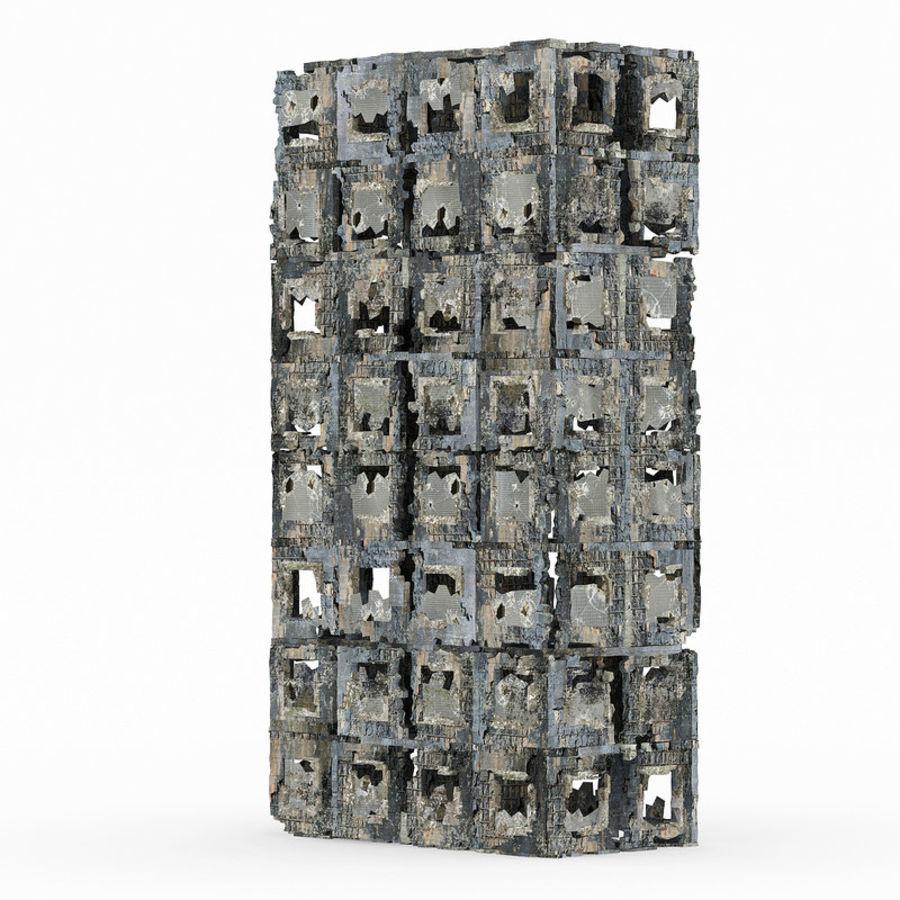 Edificio de ruinas royalty-free modelo 3d - Preview no. 2