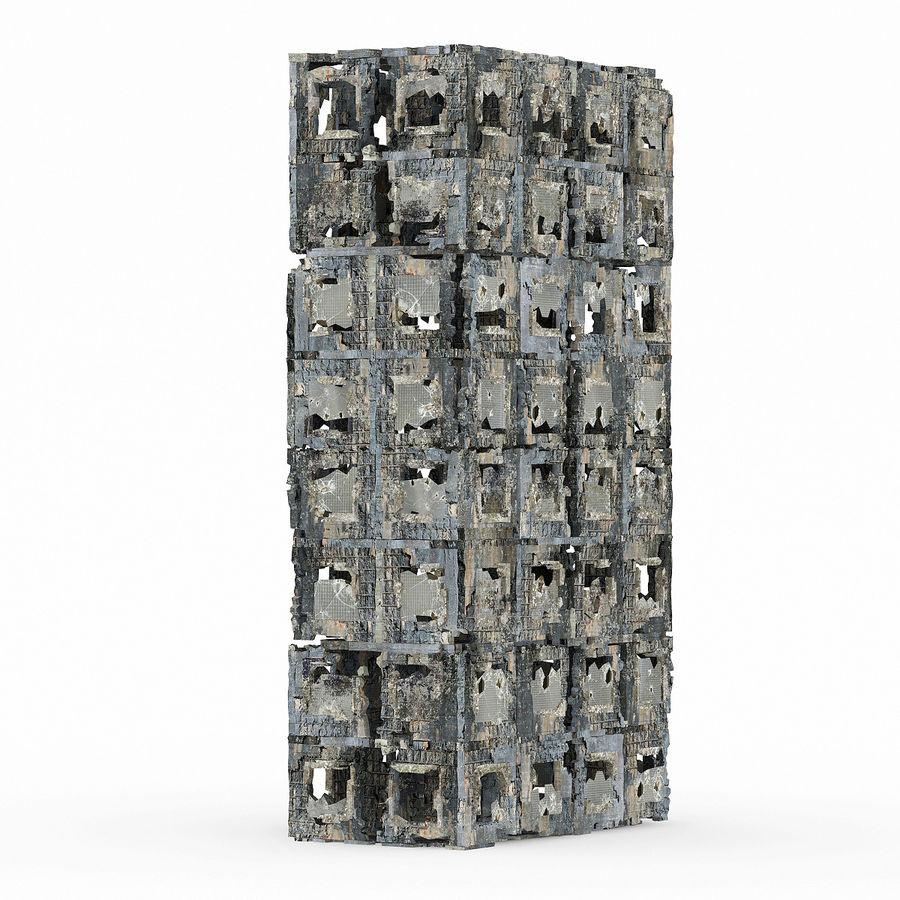 Edificio de ruinas royalty-free modelo 3d - Preview no. 4