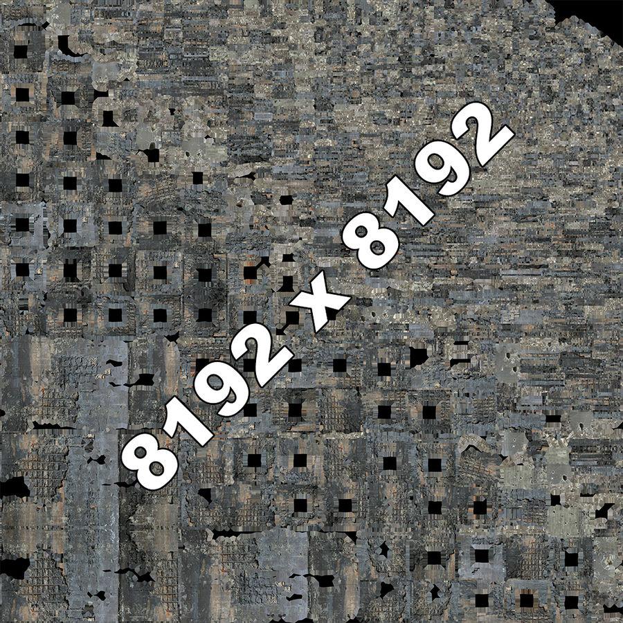 Edificio de ruinas royalty-free modelo 3d - Preview no. 11