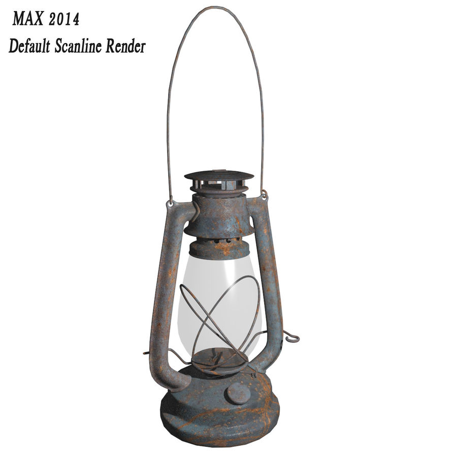 Old Lantern royalty-free 3d model - Preview no. 8