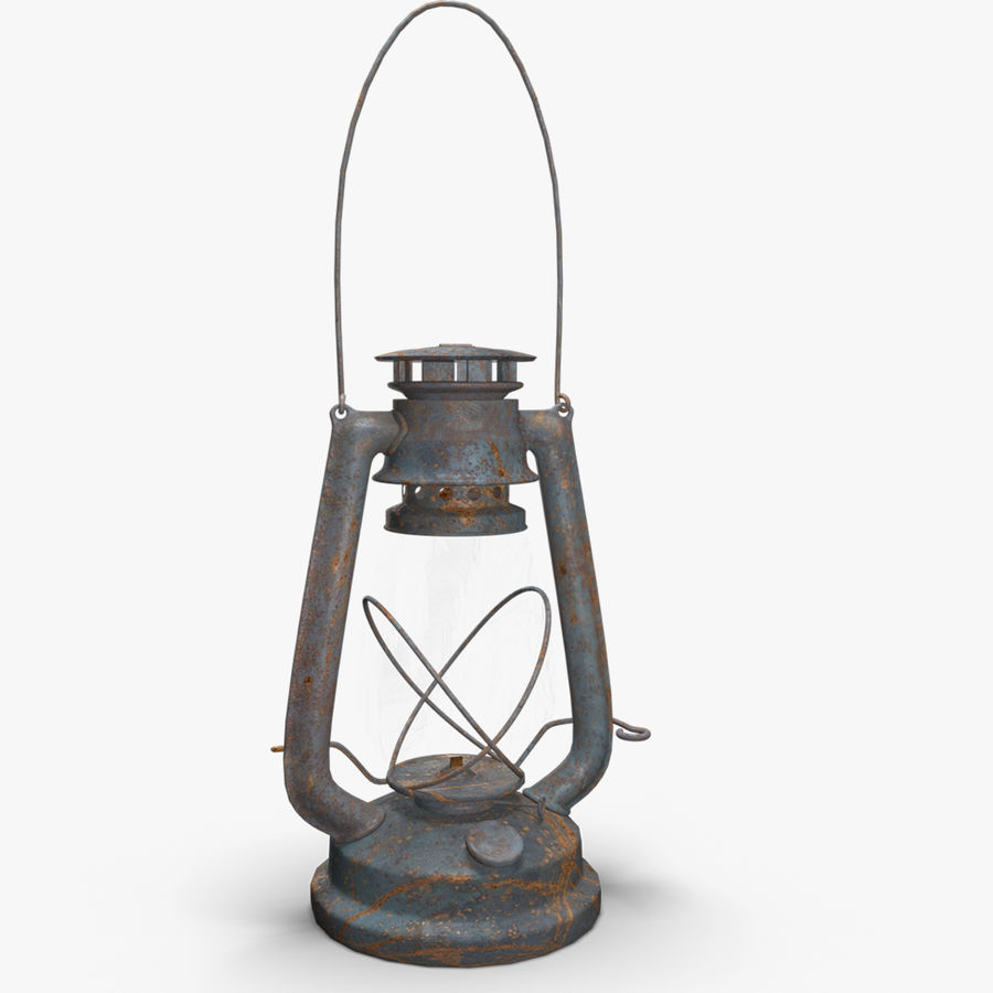 Old Lantern royalty-free 3d model - Preview no. 1