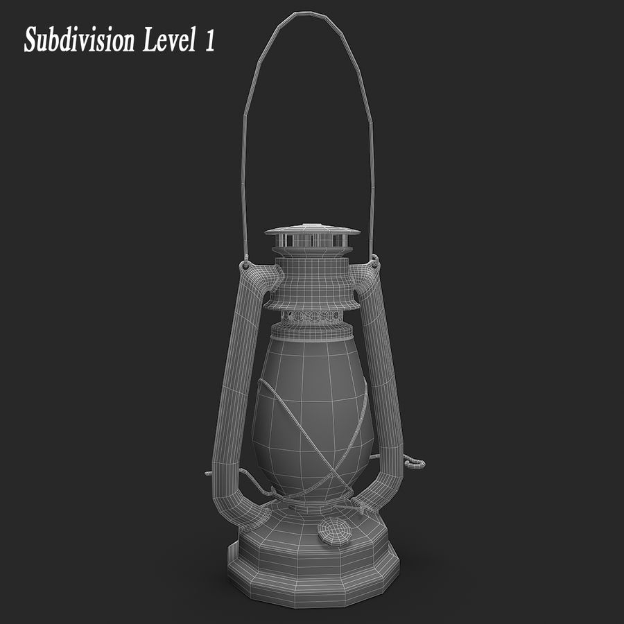 Old Lantern royalty-free 3d model - Preview no. 9