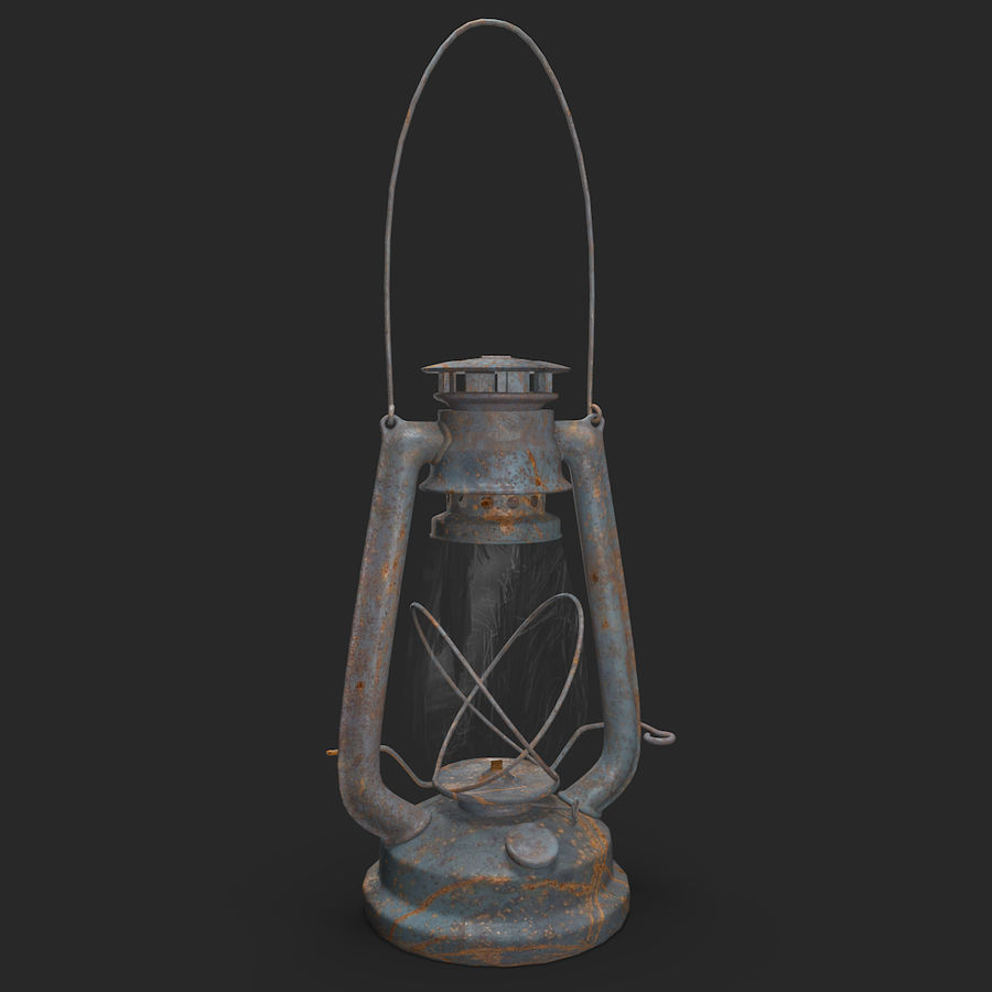Old Lantern royalty-free 3d model - Preview no. 2