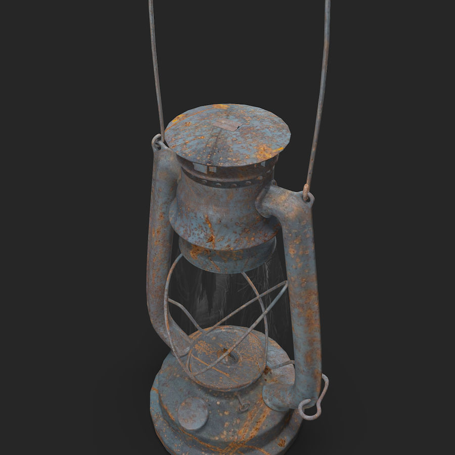 Old Lantern royalty-free 3d model - Preview no. 6