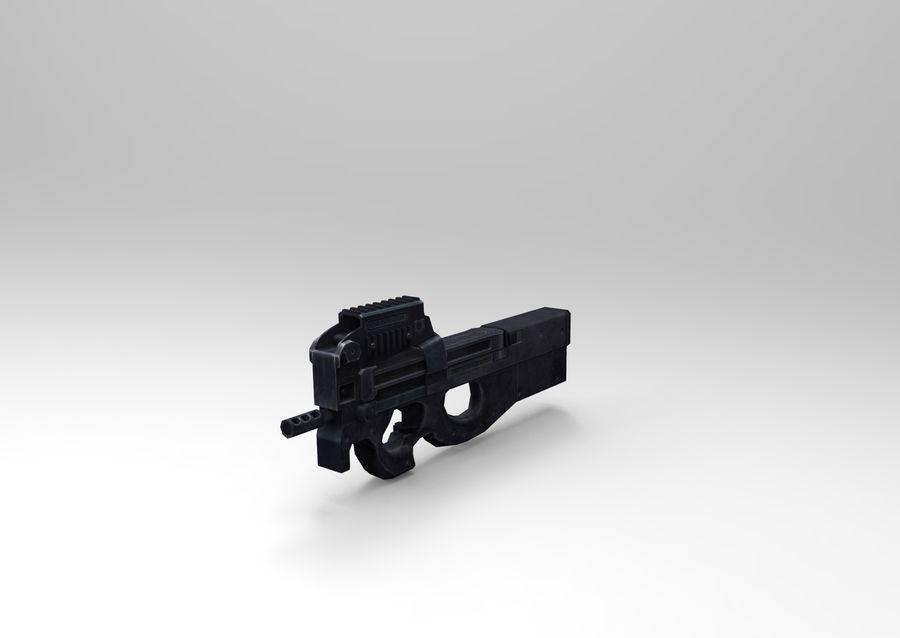 machine gun low poly royalty-free 3d model - Preview no. 11