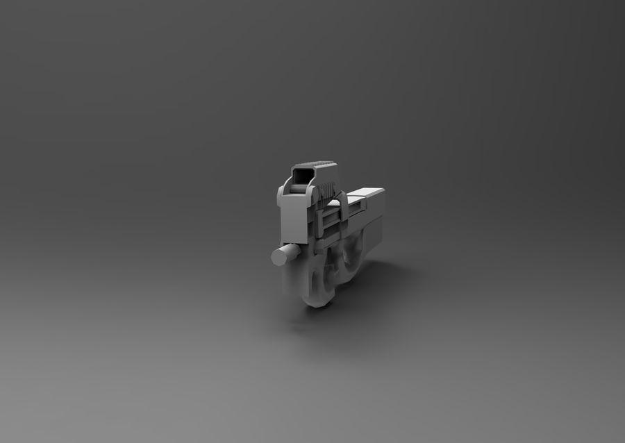 machine gun low poly royalty-free 3d model - Preview no. 18