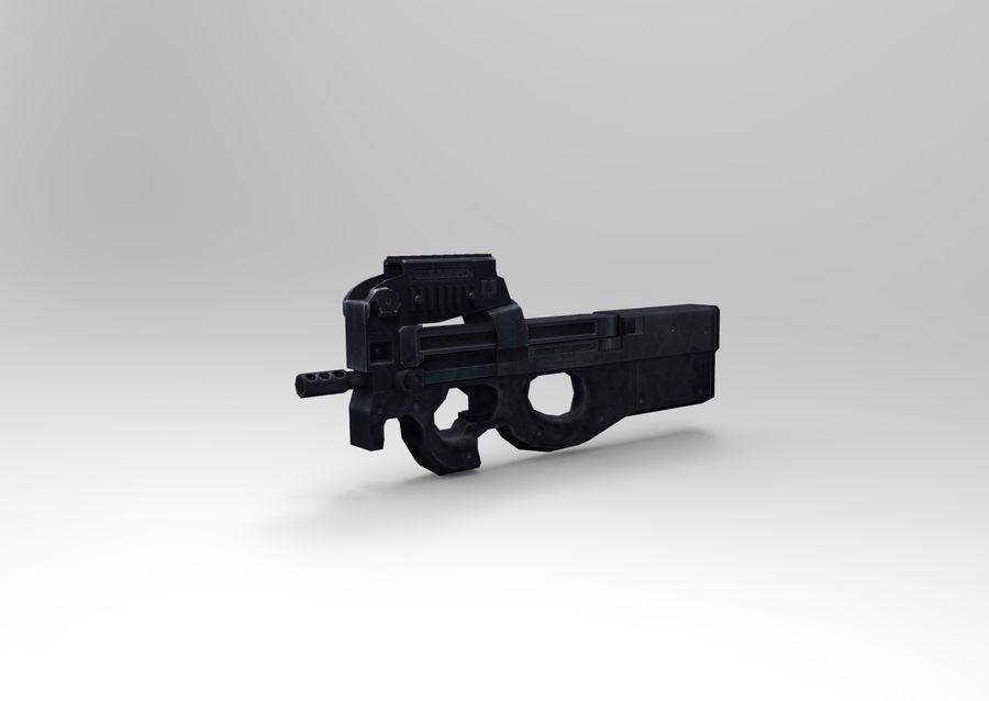 machine gun low poly royalty-free 3d model - Preview no. 16