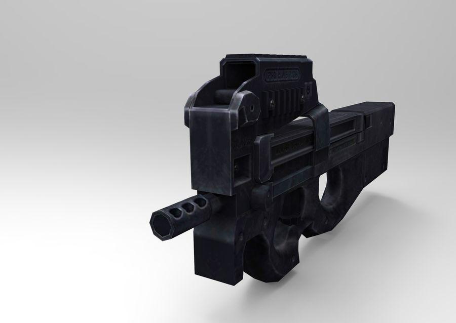 machine gun low poly royalty-free 3d model - Preview no. 12