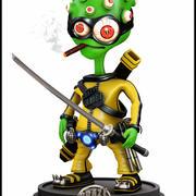 Kung Fu Alien Cartoon 3d model