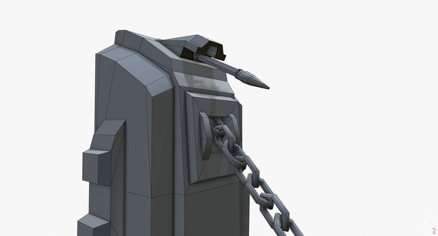 Gra gotowa do gry royalty-free 3d model - Preview no. 17