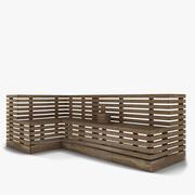Ławka do sauny 3d model