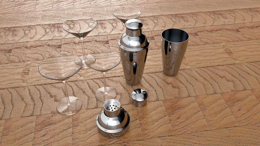 Shaker & Gläser royalty-free 3d model - Preview no. 2