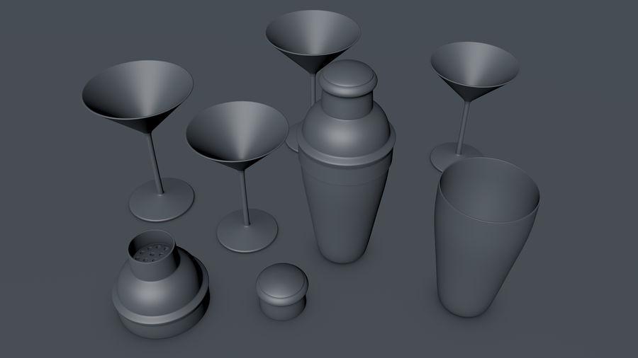 Shaker & Gläser royalty-free 3d model - Preview no. 5