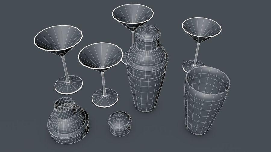 Shaker & Gläser royalty-free 3d model - Preview no. 6