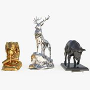 Украсьте скульптурный набор животных 1 3d model