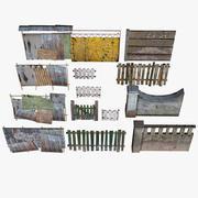 Pack clôture modulaire 3d model