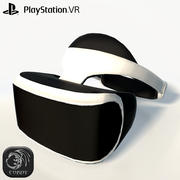 Play station VR low poly 3d model