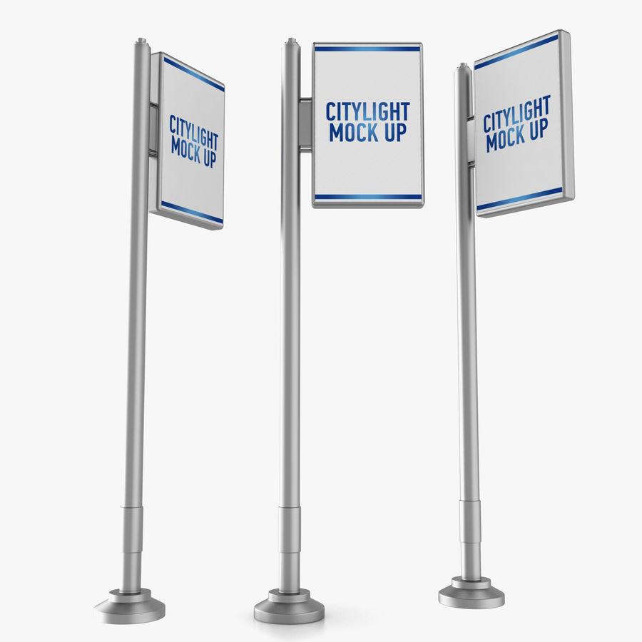 Reklama uliczna royalty-free 3d model - Preview no. 3