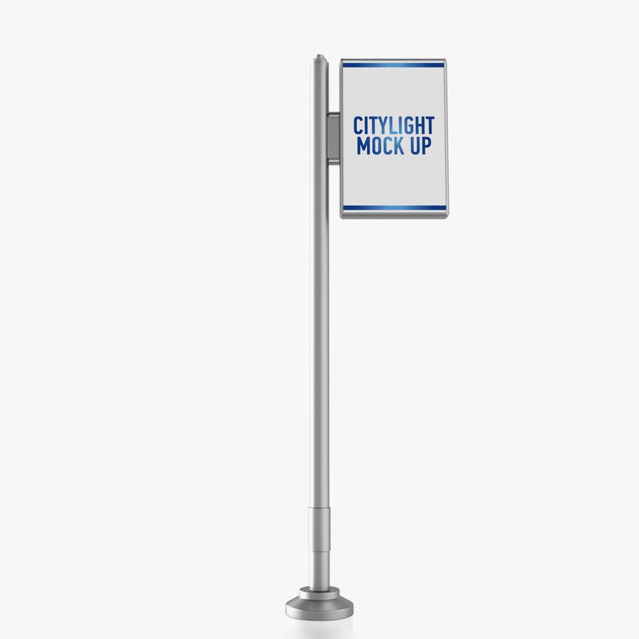 Reklama uliczna royalty-free 3d model - Preview no. 2