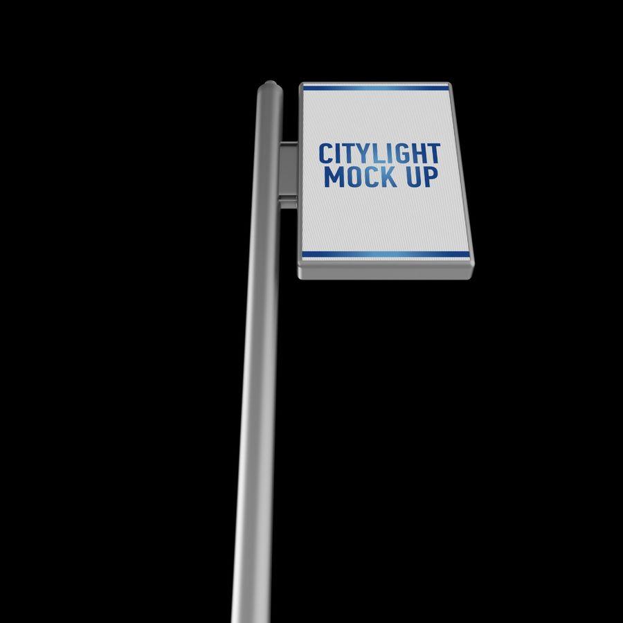 Reklama uliczna royalty-free 3d model - Preview no. 5
