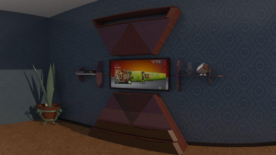 Möbler för vardagsrum royalty-free 3d model - Preview no. 1