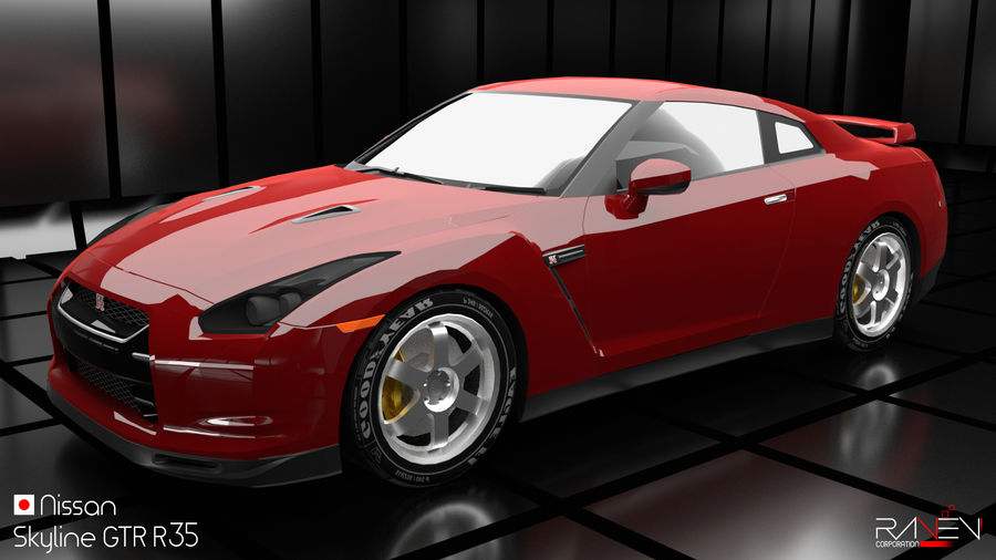 Nissan Skyline GTR R35 royalty-free 3d model - Preview no. 1