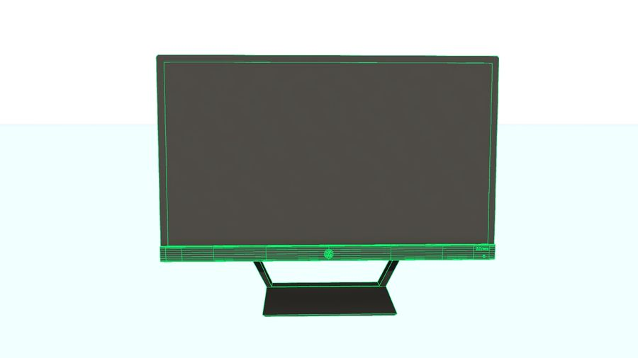 Monitor HP Pavilion royalty-free 3d model - Preview no. 5