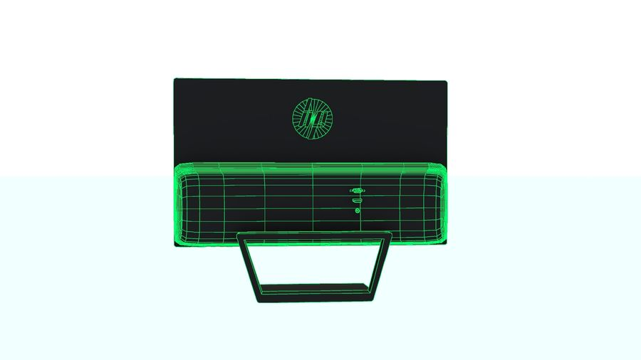 Monitor HP Pavilion royalty-free 3d model - Preview no. 6