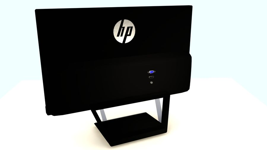 Monitor HP Pavilion royalty-free 3d model - Preview no. 3