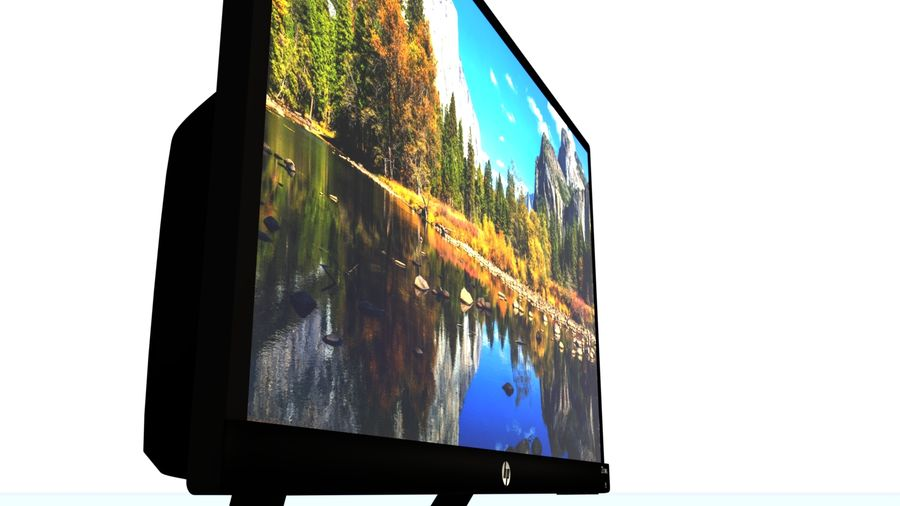 Monitor HP Pavilion royalty-free 3d model - Preview no. 4