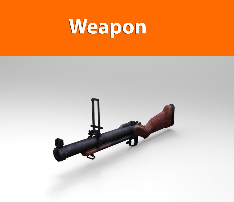 gun royalty-free 3d model - Preview no. 1