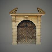 화려한 문 3d model