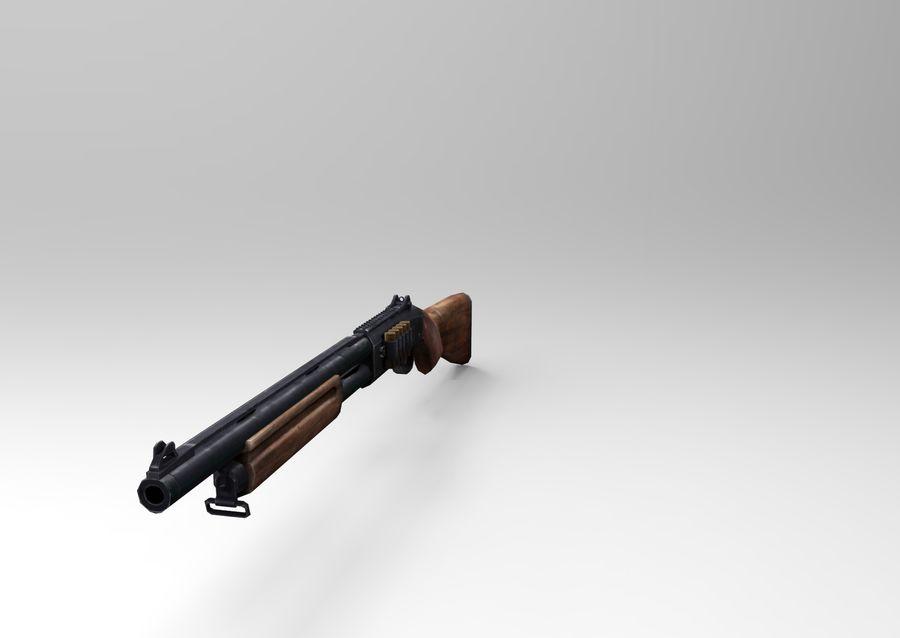 Fucile basso poli arma royalty-free 3d model - Preview no. 4