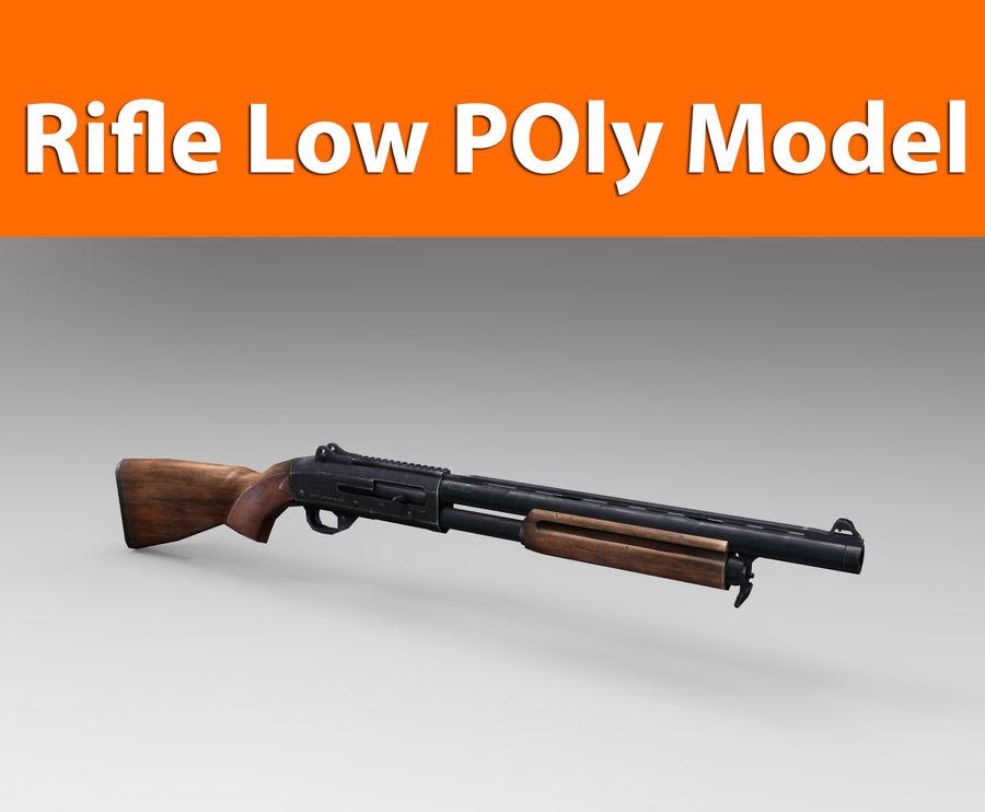 Fucile basso poli arma royalty-free 3d model - Preview no. 1