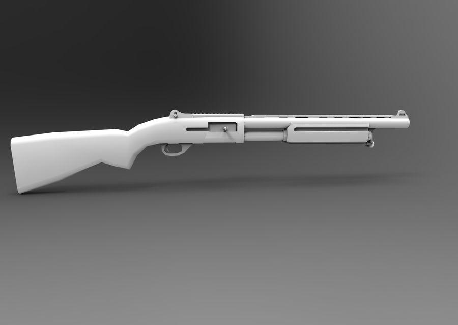 Fucile basso poli arma royalty-free 3d model - Preview no. 23
