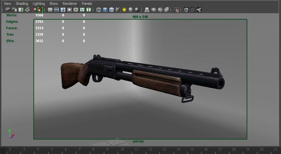 Fucile basso poli arma royalty-free 3d model - Preview no. 25