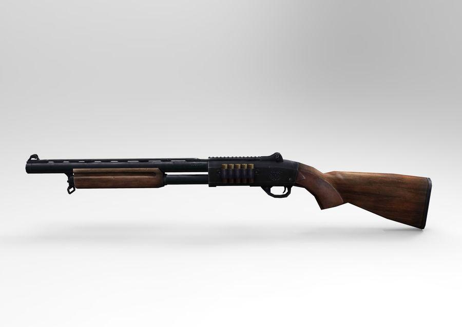 Fucile basso poli arma royalty-free 3d model - Preview no. 7