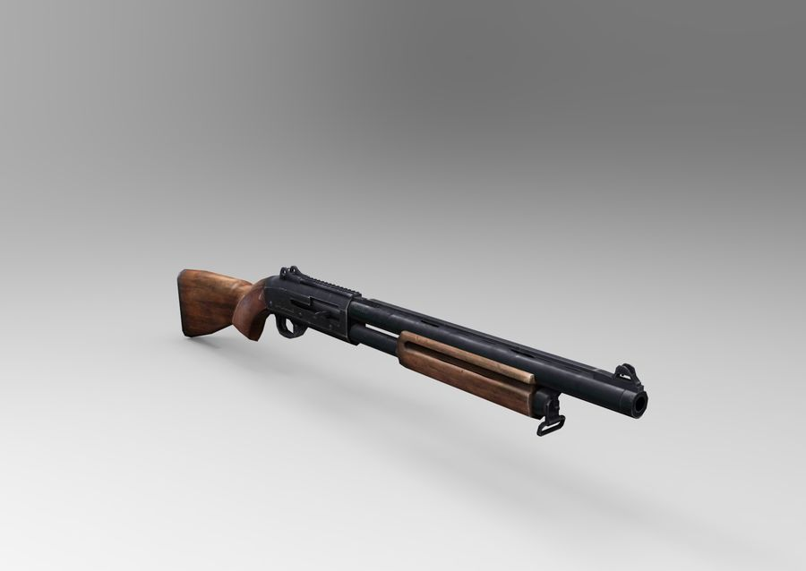 Fucile basso poli arma royalty-free 3d model - Preview no. 2