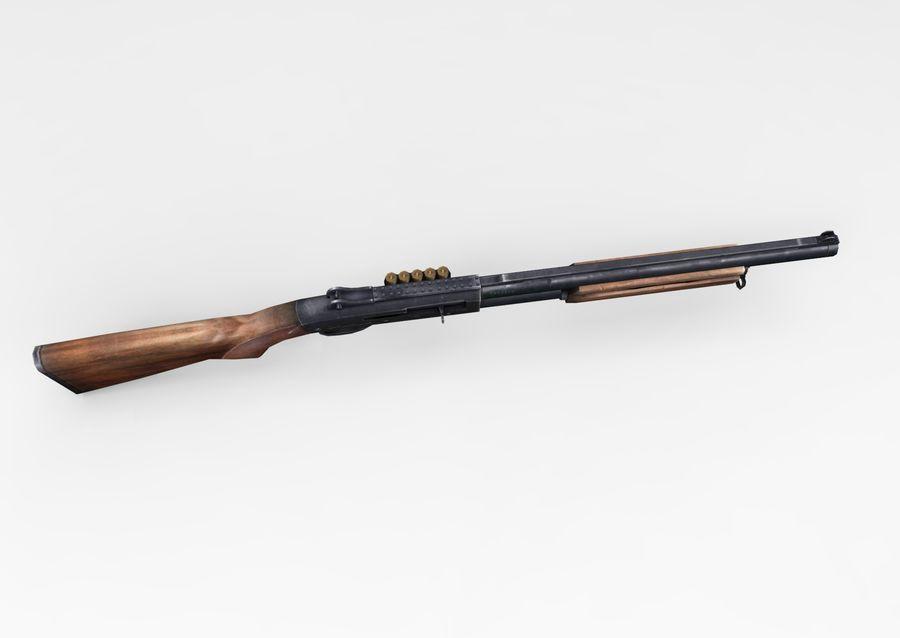 Fucile basso poli arma royalty-free 3d model - Preview no. 12