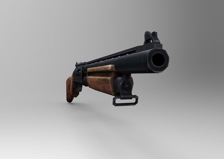 Fucile basso poli arma royalty-free 3d model - Preview no. 13