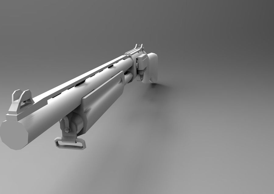 ライフル低ポリ武器 royalty-free 3d model - Preview no. 18