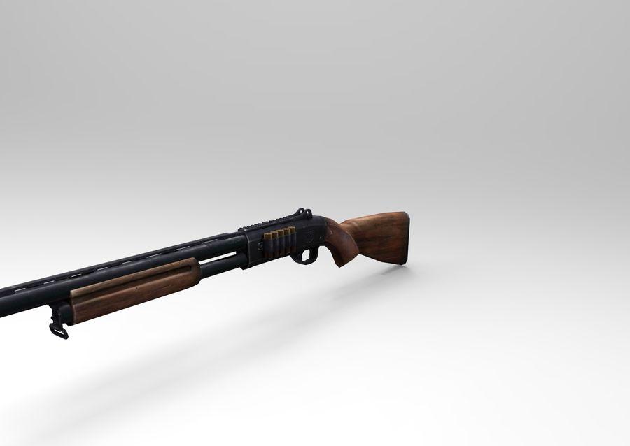 Fucile basso poli arma royalty-free 3d model - Preview no. 5