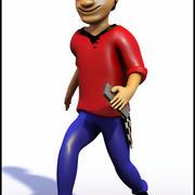 Homem, caricatura 3d model