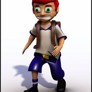 Cartoon Student V1 3d model